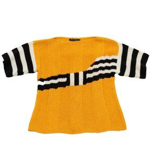 I.B. DIFFUSION Vintage Linen Blend Yellow Sweater